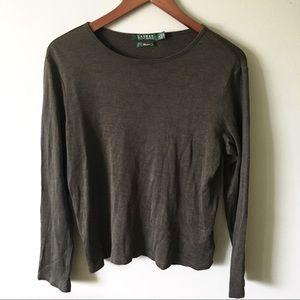 Lauren Ralph Lauren Premium Silk / Wool Blend Top